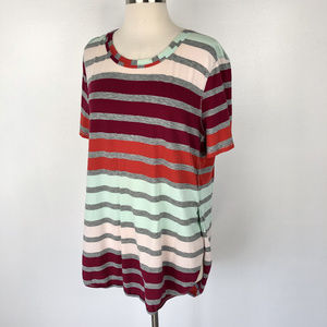 Lululemon | Striped Tunic Pink Maroon Red Blue